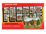 Greetings from Purdue, Indiana Prints