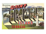 Greetings from St. Simon's Island, Georgia Posters