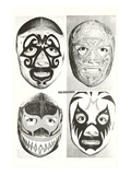 Masks of Mexican Wrestlers Posters