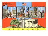 Greetings from Montgomery, Alabama Prints