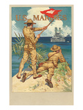 U.S. Marines, Signal Flag Prints