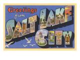 Greetings from Salt Lake City, Utah Poster