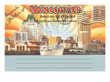 Postcard Folder, Vancouver, British Columbia Poster