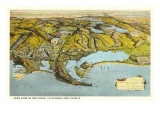 Relief Map of San Diego, California Poster