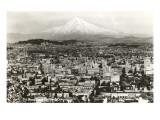 Mt. Hood over Portland, Oregon Posters