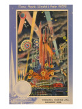 Fireworks,  New York World's Fair, 1939 Lámina giclée