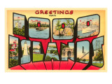 Greetings from Thousand Islands, New York Poster