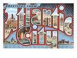 Greetings from Atlantic City, New Jersey Poster