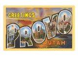 Greetings from Provo, Texas Prints