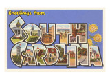 Greetings from South Carolina Posters