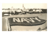 Living Navy Flag, Naval Training Center, San Diego, California Prints
