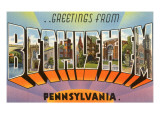 Greetings from Bethlehem, Pennsylvania Posters