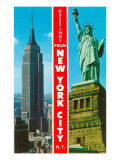 Famous Sights, Greetings from New York City Prints