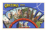 Greetings from Asheville, North Carolina Prints