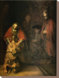 Return of the Prodigal Son Stretched Canvas Print by  Rembrandt van Rijn