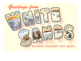 Greetings from White Sands, New Mexico Posters