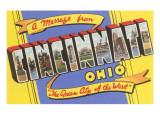 Message from Cincinnati, Ohio Posters