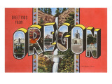 Greetings from Oregon Posters