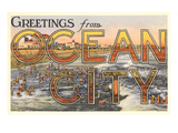 Greetings from Ocean City, New Jersey Prints