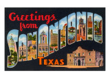Greetings from San Antonio, Texas Prints