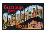 Greetings from San Antonio, Texas Prints