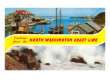 Greetings from North Washington Coast Line Posters