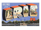 Greetings from Erie, Western Pennsylvania Prints