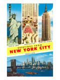 Greetings From New York City with City Scenes Posters