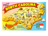 Map of North Carolina Posters