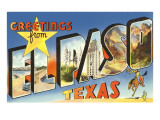 Greetings from El Paso, Texas Print