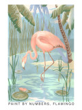 Paint by Numbers, Flamingo Print