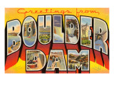 Greetings from Boulder Dam, Nevada Giclee Print