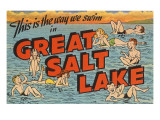 Greetings from Great Salt Lake, Utah Art