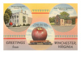 Greetings from Winchester, Virginia Print