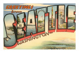 Greetings from Seattle, Washington Art