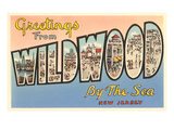 Greetings from Wildwood-by-the-Sea, New Jersey Art