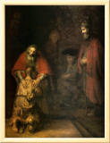 Return of the Prodigal Son Framed Canvas Print by  Rembrandt van Rijn