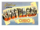 Greetings from Cleveland,Ohio Posters