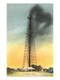 Gusher in Texas Oil Well Prints