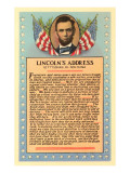 Lincoln with Text of Gettysburg Address Posters