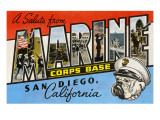 Greetings from Marine Corps., San Diego, California Posters