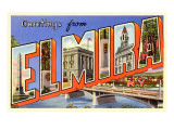 Greetings from Elmira, New York Posters