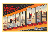Greetings from Ocean City, New Jersey Posters