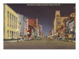 State Street bei Nacht, Erie, Pennsylvania Kunstdruck