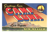 Greetings from Camp Luna, Las Vegas, New Mexico Poster