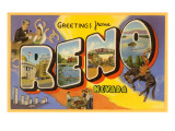 Greetings from Reno, Nevada Poster