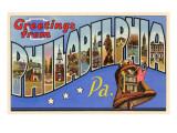 Greetings from Philadelphia, Pennsylvania Poster