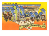 Hello from Wildwood, New Jersey Prints