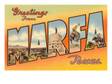 Greetings from Marfa, Texas Print