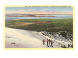 Great Salt Lake, Wasatch Mountains, utah Print